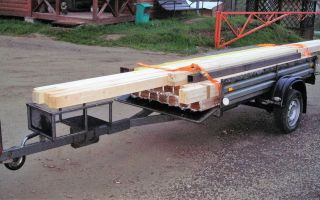 Обзор легковых прицепов для перевозки длинномерных грузов
