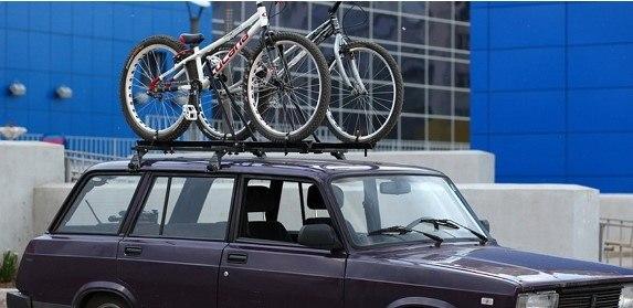 Перевозка велосипедов на багажнике ВАЗ 2104