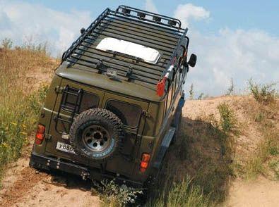Экспедиционный багажник на автомобиле УАЗ