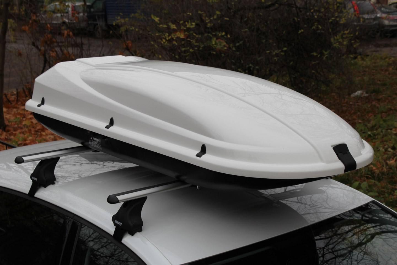 Бокс Arctic на багажнике Атлант крыловидные дуги