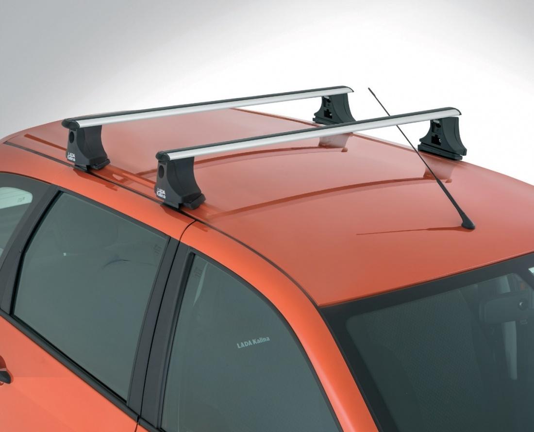 Поперечины на крыше автомобиля Лада Калина универсал
