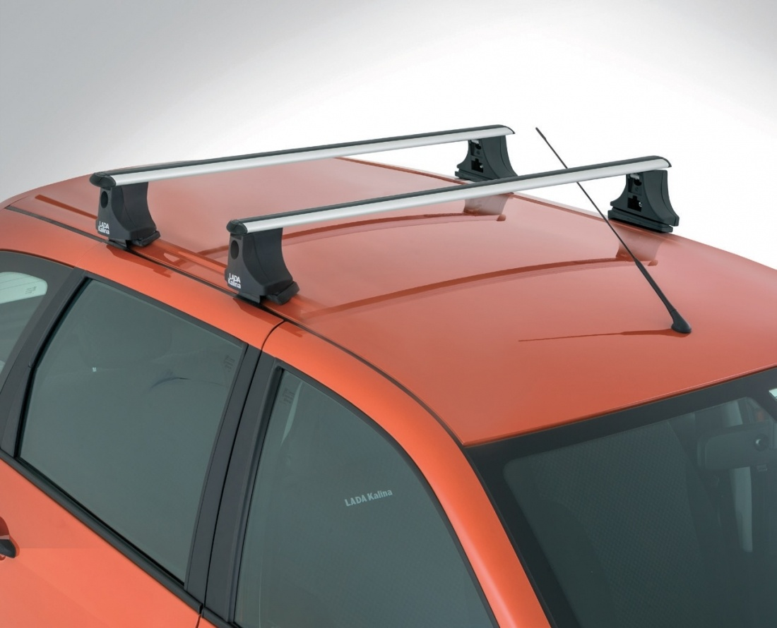 Поперечины на крыше автомобиля Лада Калина