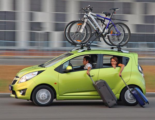 Велобагажник на автомобиле