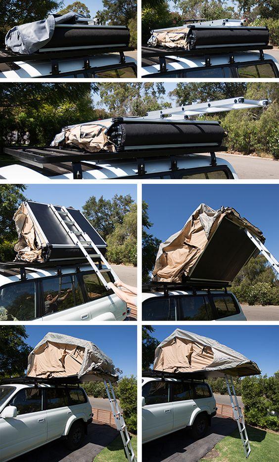 Установка палатки багажника ARB Simpson III