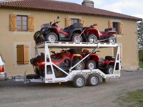 Прицеп для перевозки квадроциклов