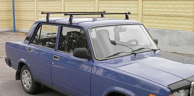 Поперечины на крыше ВАЗ 2107