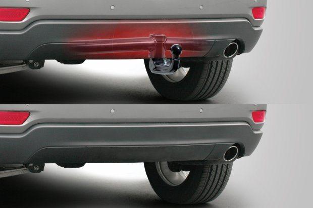 Съемный фаркоп на автомобиле