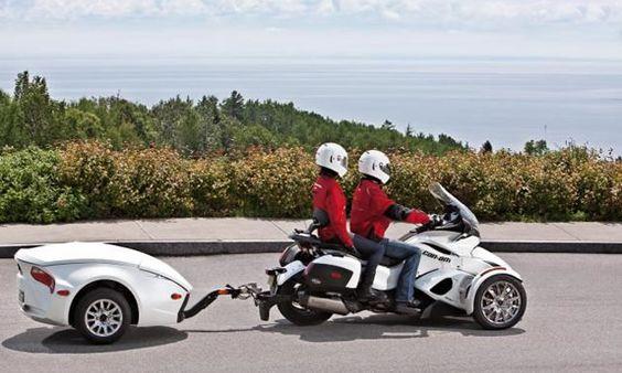 Крепление прицепа за раму мотоцикла